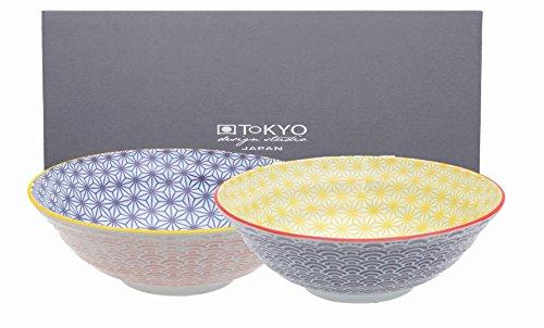 TOKYO design studio, Star Wave, 2 Schalen Set , 2-tlg., Ø 21 cm, Porzellan aus Japan