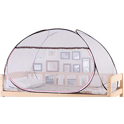 Moskitonetz Studenten großer Tür, Schlafsaal-Etagenbett Zelt Bettnetz Stahldrahtgestell für Zuhause und Reisen (Farbe : Kaffee) -