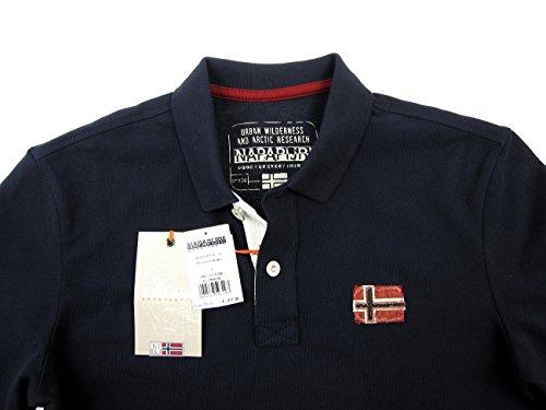Napapijri Langarm Polo - Navy Navy Dunkelblau