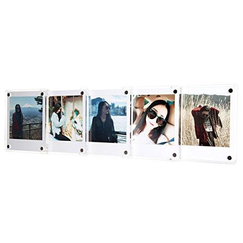 CAIUL Klarer Acryl Kühlschrankmagnet Foto Rahmen für Fujifilm Instax Square SQ10 Film (5 pcs)