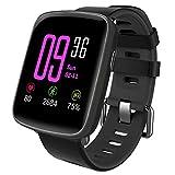 YAMAY Smartwatch Wasserdicht IP68 Smart Watch Uhr mit Pulsmesser Fitness Tracker Sport Uhr Fitness Uhr mit Schrittzähler,Schlaf-Monitor,Stoppuhr,Call SMS Benachrichtigung Push für Android...