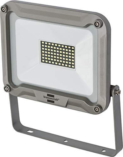 50w Flutlicht-metall (Brennenstuhl LED Strahler Jaro 5000 (für außen, LED-Außenstrahler zur Wandmontage, LED-Fluter 50W aus Aluminium, IP65) silber)