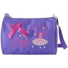 b16bc14f5f8 Hougood Bolsa de Danza para niñas Bordado Bandolera de Nailon Impermeable  Ballet Bolsa de Baile Bolsa