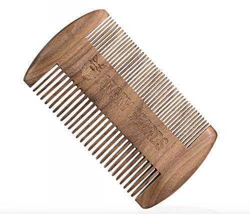 Wooden Beard Comb 10x6cm by Angry Beards/Hölzerner Bartkamm 10x6cm von Angry Beards Made in Czech Republic