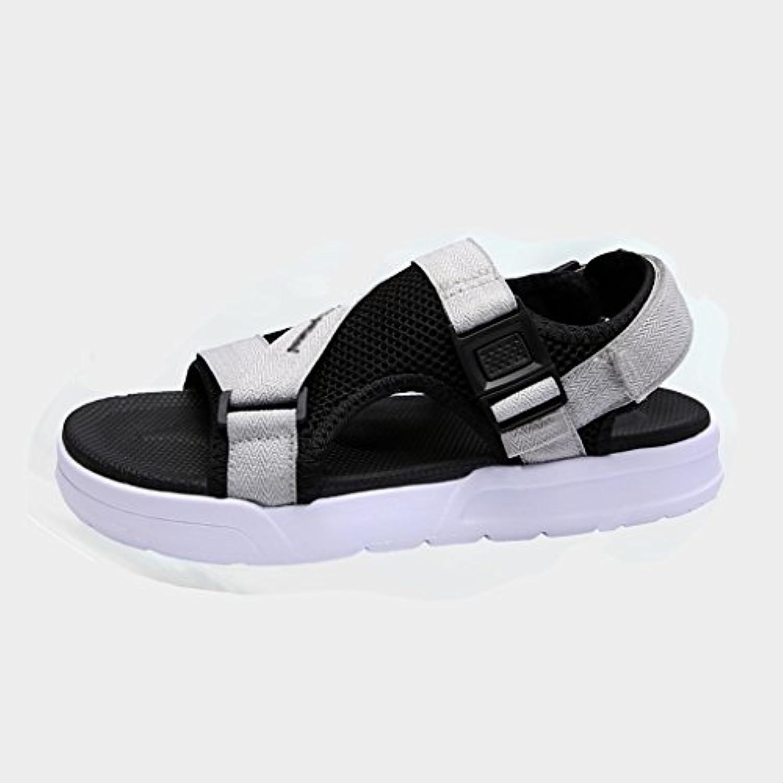 PJ Sandalen Herren Sandalen Sommer Cool Slippers Breathable Persönlichkeit Strand Schuhe (grau/schwarz) (Farbe