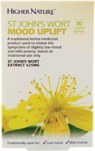 Higher Nature St John's Wort Mood Uplift - 30 coated tablets Test