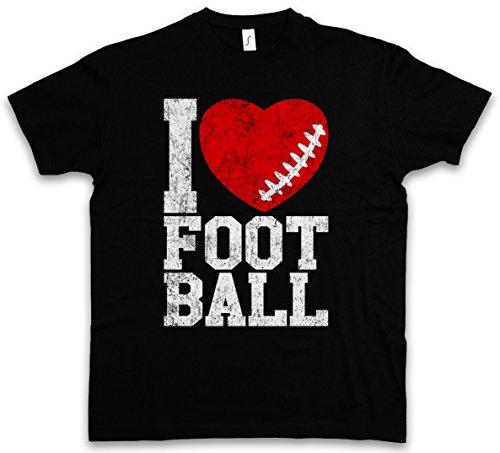 Urban Backwoods I Love Football III T-Shirt – Taglie S – 5XL Nero