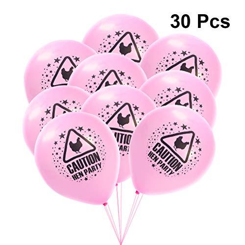 YeahiBaby 30 stücke Rosa Hen Party Ballons Bachelorette Ballons Hen Party Dekoration Brautdusche Begünstigt Liefert 10 Zoll