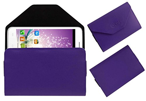 Acm Premium Pouch Case For Micromax Canvas Blaze Mt500 Mts Flip Flap Cover Holder Purple  available at amazon for Rs.179