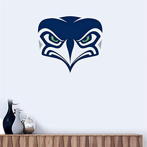 Wandtattoo Seattle Seahawks # 6 Team Logo Wandaufkleber Vinyl Wandaufklebe