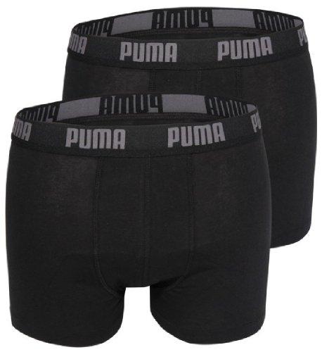 PUMA Herren BASIC Boxer Boxershort Unterhose 4er Pack in vielen Farben schwarz/schwarz/schwarz/schwarz