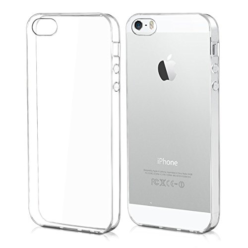 kwmobile Hülle für Apple iPhone SE / 5 / 5S - TPU Silikon Backcover Case Handy Schutzhülle - Cover klar Transparent