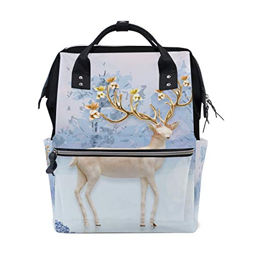 FAJRO Tagesrucksack Elk On The Ice Lake, leicht, Segeltuch -