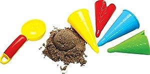 Gowi 558-41 - Juego de playa con moldes para la arena, forma de helado (5 piezas en redecilla) importado de Alemania