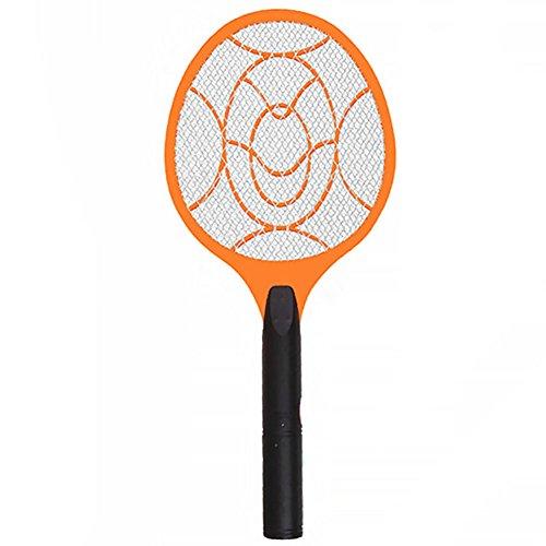 LNIMIKIY Elektronischer Insektenvernichter, Schläger, Mückenklatsche, Insekten, Schädlingsbekämpfung, elektrischer Schläger, Hot (49 22 cm, Orange + Schwarz), Orange + Black, 49 22cm