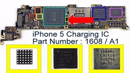 Apple New OEM iPhone 5 Component USB Charging Chip U2 IC 1608/1608A1 for Motherboard PCB Repair