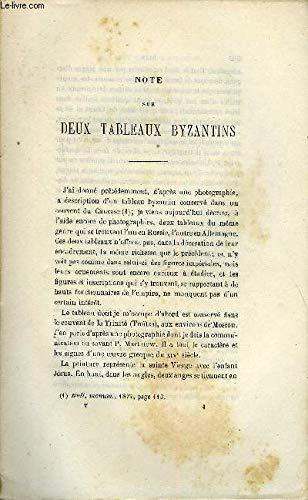 BULLETIN MONUMENTAL 5e SERIE, TOME 7, 45e COLLECTION N°5 - NOTE SUR DEUX TABLEAUX BYZANTINS PAR JULIEN DURAND, L'INSCRIPTION DU VASE DE MONTANS (TARN) PAR EUGENE HUCHER Durand Vase