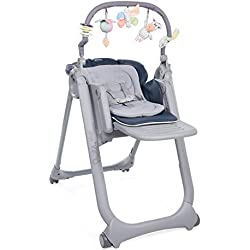 Chicco - Chaise Haute Bébé Polly Magic Relax - 4 Roues - Evolutive - India Ink