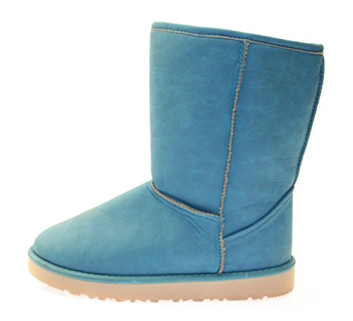 Com Neve Azul Azul Cor Botas Brilhante Gasolina Mulheres Único YxTnx1HC
