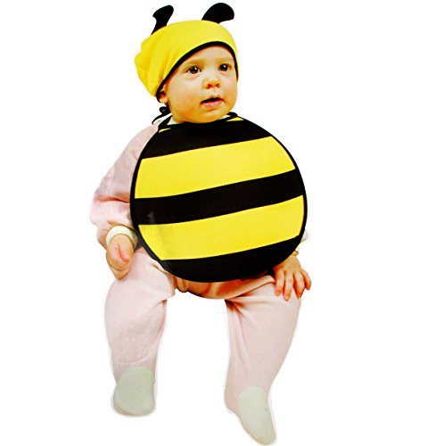 Honig Biene Kostüm Babys - alles-meine.de GmbH 2 TLG. Baby Kostüm -  süße Biene  - ab 0 Jahre / Geburt - Babykostüm - Lätzchen & Mütze - Tier Kostüm - Karneval Kinder Kind Kinderkostüm / Fasching - Biene..