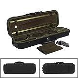 YUSDP Leichter 4/4 Full Size Geigenkoffer - mit Hygrometer, Tragegurten - Professionelles Oxford-Gewebe, abriebfestes, weiches Flanell-Futter, für Reisen und Konzerte