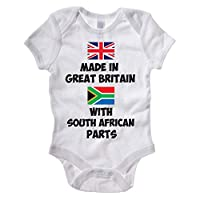 The Classic Image Company - Funny Baby Grow/Baby Vest - Made in Great Britain with South African Parts - Baby Gift Idea/Babysuit / Body Suit/Suitable for Baby Boys and Girls (0-3 Months, White)