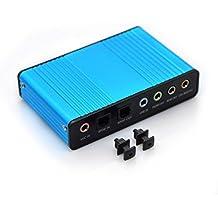 Easy-Link Externe Soundkarte USB 6 Kanal 5.1 Audiokarte USB Soundbox mit SPDIF Didital Audio - 5.1 Surround Audio Adapter Analoge und Digitale Audiogeräte für Windows / Laptop / PC - External 6 Channel 5.1 Surround Sound Card