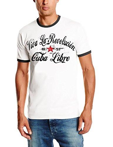 Revolution Ringer T-shirt (VIVA LA REVOLUTION - Cuba Libre - RINGER T-SHIRT weiss Gr.L)