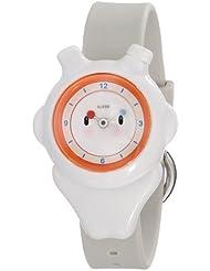 Alessi AL23001 - Reloj analógico para niño, correa de plástico color blanco