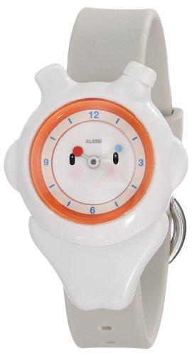 Alessi - AL23001 - Montre Mixte Enfant - Automatique - Analogique - Bracelet Plastique Blanc