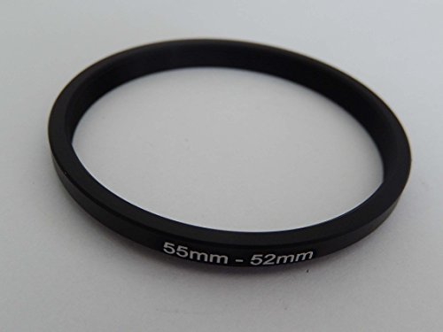vhbw Step Down Adapter Ring Filteradapter 55mm-52mm schwarz für Kamera Panasonic, Pentax, Ricoh, Samsung, Sigma, Sony, Tamron 52mm Step Down Ring-adapter