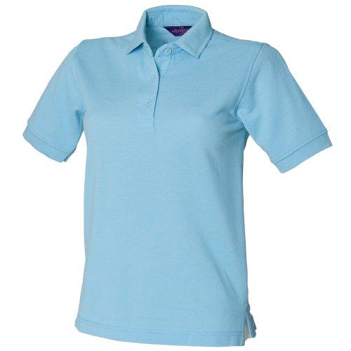 Polo à rétention de forme Henbury pour femme Bleu - Sky