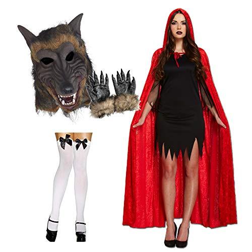 Unbekannt Rotkäppchen und Wolf Paar Kostüm Halloween Kostüm (Rotkäppchen Wolf Kostüm)