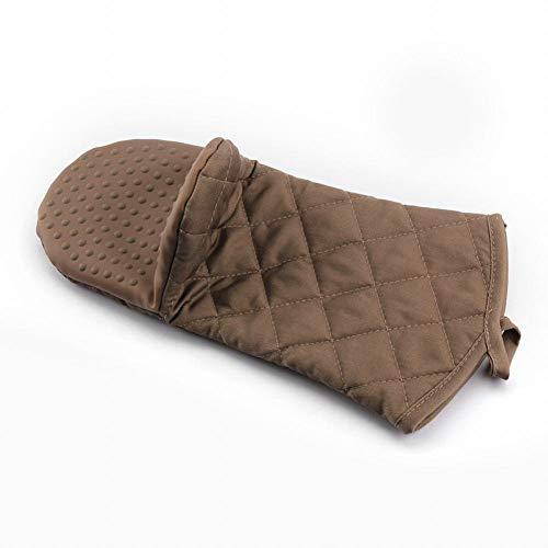 CLLCR Ofen-Handschuhe - Lange Silikon-Isolierhandschuhe/Hochtemperatur-Verdickungs-Ofen Verbrühungs-Mikrowellenofen-Handschuhe,Kaffee,1