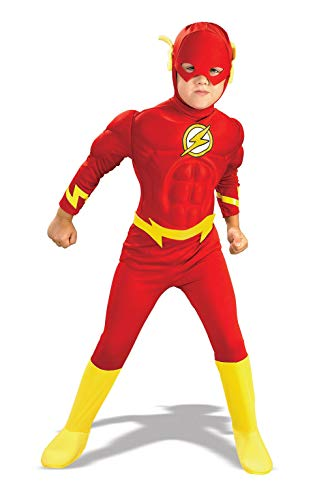 Rubie's 640854L DC Kostüm Jungen Mehrfarbig (Das Flash Kostüm)