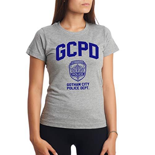 c9b28e48 Gotham City Police Department GCPD Blue TV Series Gris Camiseta para Mujer S