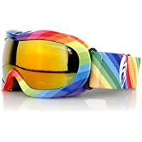 Occhiali da sci per bambini, colore: arcobaleno