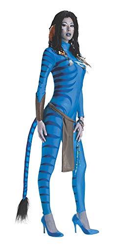 Zubehör Kostüm Neytiri - narrenkiste R889807-M 38-40 blau Damen Neytiri Avatar Kostüm Gr.38-40