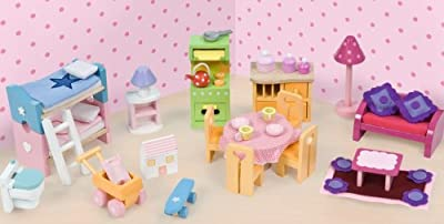 - Deluxe arranque Dollhouse Muebles por Papo