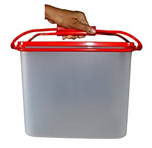 Tupperware Pack a Lot Plastic Container, 8.7 Litres, Red and White