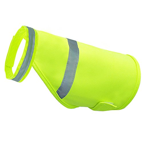 Kingnew Pet Hund Sicherheit Reflektierende Weste Fluoreszierende Sicherheit Leuchtende Wasserdichte Pet Kleidung Kleidung Bekleidung (grün, L) -