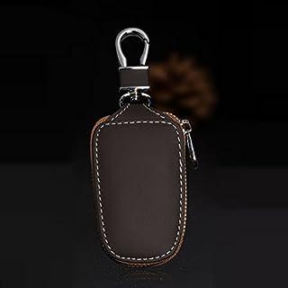 AUTLY Auto Schlüsselanhänger Tasche Schutz Aus Echtem Leder Auto Smart Keychain Münzhalter Auto Fernbedienung Schlüsselanhänger für Frauen und Männer