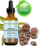 """Negro aceite de ricino Jamaica. 100% puro/Natural/Virgin/prensado en frío sin refinar aceite portador. 1fl. oz.-30ml. Para la piel, cabello, pestañas, cejas y uñas cuidado. """"Caribe Original garantía."""""""