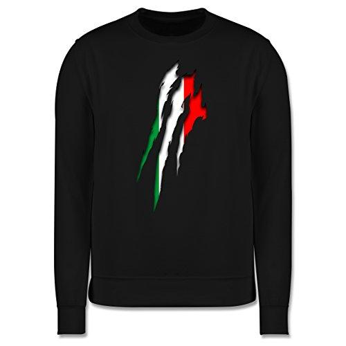 Länder - Italien Krallenspuren - Herren Premium Pullover Schwarz