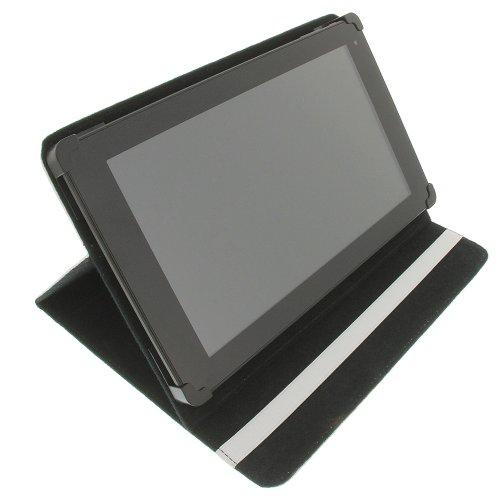foto-kontor Tasche für Blaupunkt Endeavour 1010 HD Book Style Schutz Hülle Buch weiß