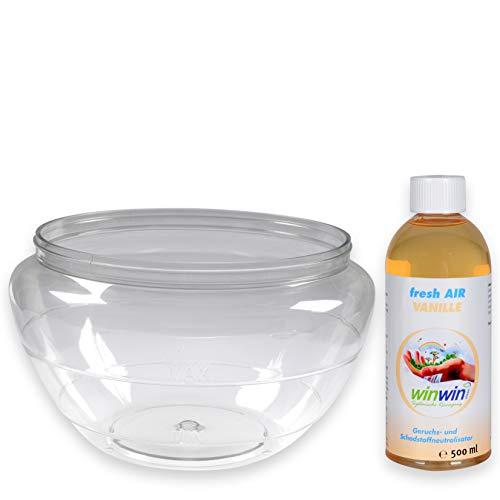 - Wasserbehälter geeignet für AIR BLOW und proWIN AIR BOWL 2 I inklusive WUNSCH - Luftreinigungs-Konzentrat fresh AIR 500ml (Wasserbehälter + fresh AIR Vanille 500ml)