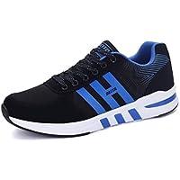 Los Hombres Correr Zapatos Casual Zapatos Al Aire Libre con Cordones Transpirable Zapatillas Negro Calzado Deportivo Masculino