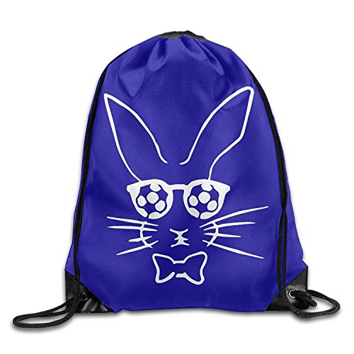 Naiyin Hopster Soccer Bunny Unisex Drawstring Backpack Travel Sports Bag Drawstring Beam Port Backpack. -