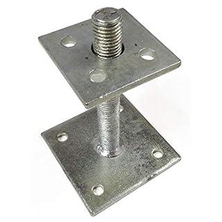 Pfostenträger verstellbar höhenverstellbar 35-160 mm für Holzpfosten von Gartenpirat®