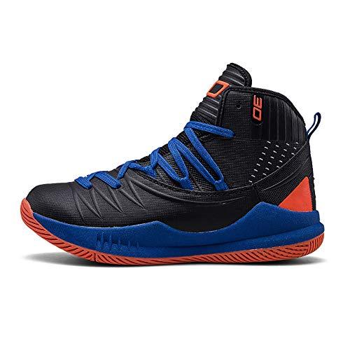 Luckh Basketball Schuhe Herren High Wear Wear Atmungsaktiv Erhöhen Turnschuhe Schwarz Blau Orange 45 (Und Orange Basketball-schuhe Blau)